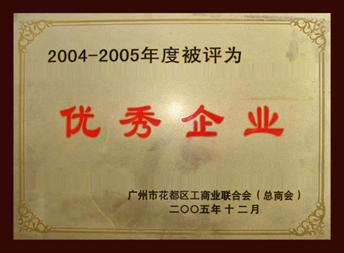优秀企业单位证书